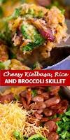#recipe #food #drink #delicious #family #Cheesy #Kielbasa, #Rice #and #Broccoli #Skillet