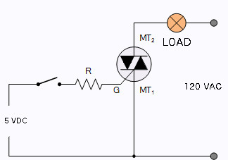Electronics projects and tutorials: Switching AC loads with