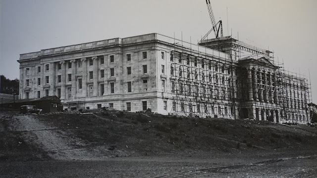 The construction of Parliament Buildings 1928 - 1932