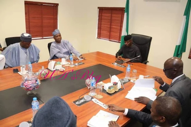 BREAKING: Saraki leads nPDP in meeting with Osinbajo-led FG delegation
