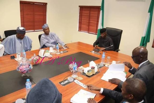BREAKING: Saraki leads nPDP in meeting with Osinbajo-led FG delegation