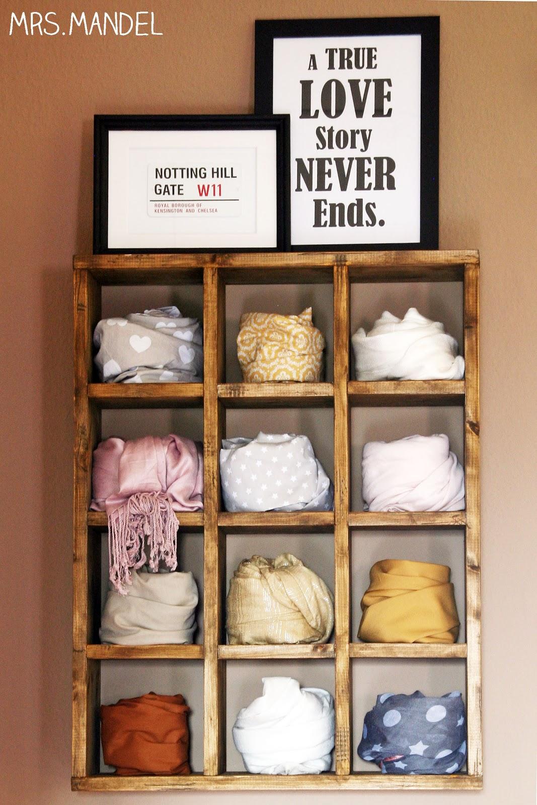 schals aufbewahren selber machen wohn design. Black Bedroom Furniture Sets. Home Design Ideas