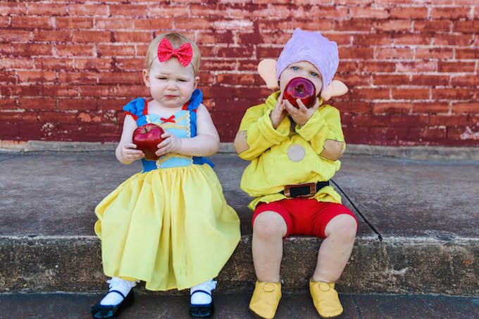 Snow White & Dopey The Dwarf | Halloween Costume | Jesse Coulter