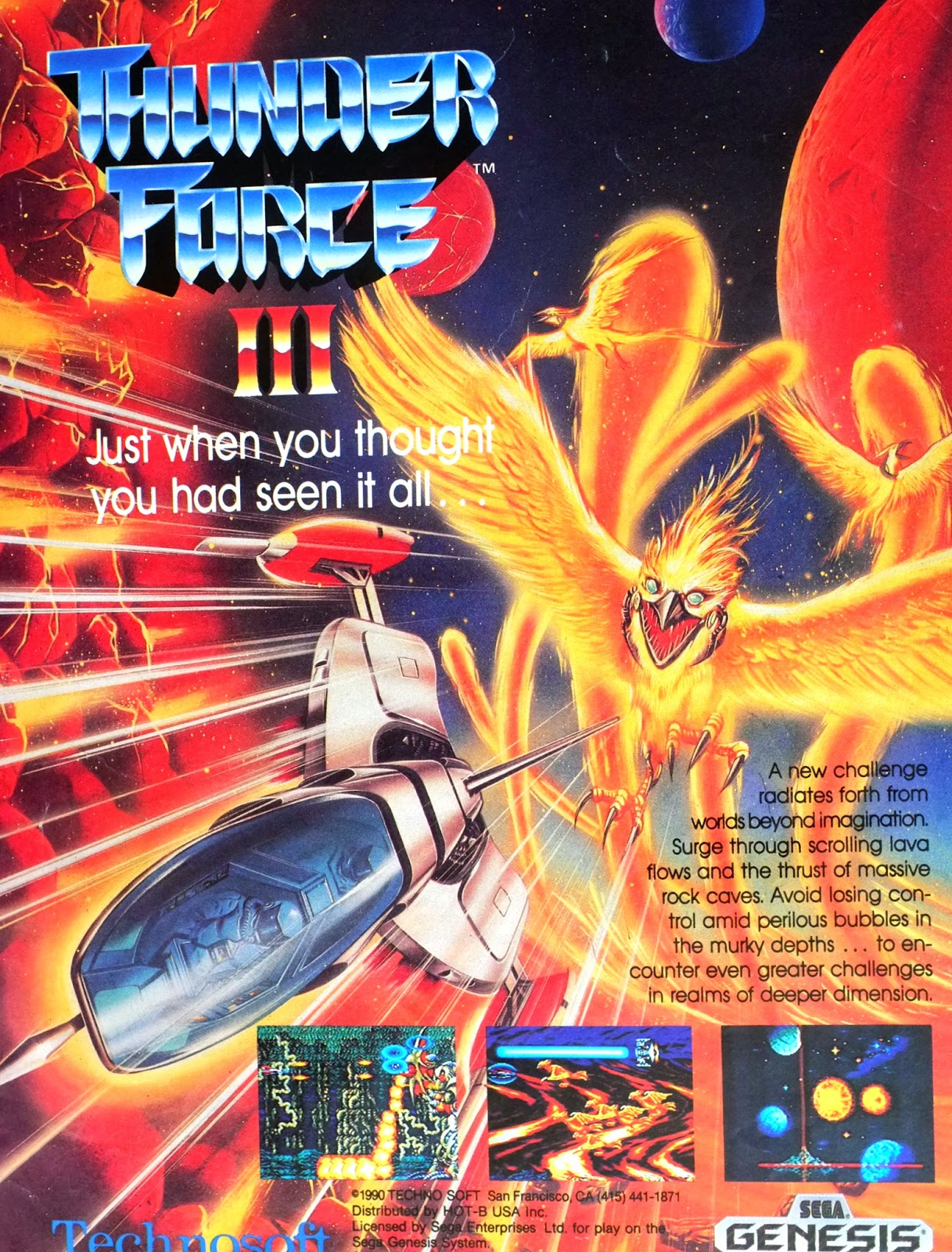 Thunder Force III for Genesis advertisement