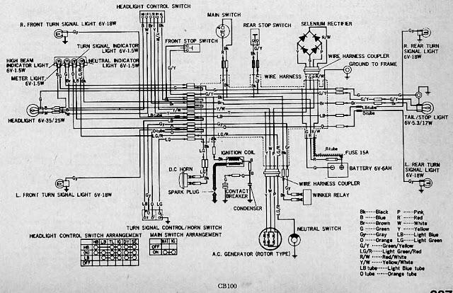 wiring diagram kelistrikan honda gl 100 | wiring schematic diagram on honda  vtx wiring diagram,