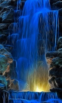 Zedge Full Hd Wallpaper The Zedge Lovely Blue Waterfall Wallpaper For Mobile 306x640