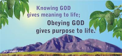 God's purpose in me