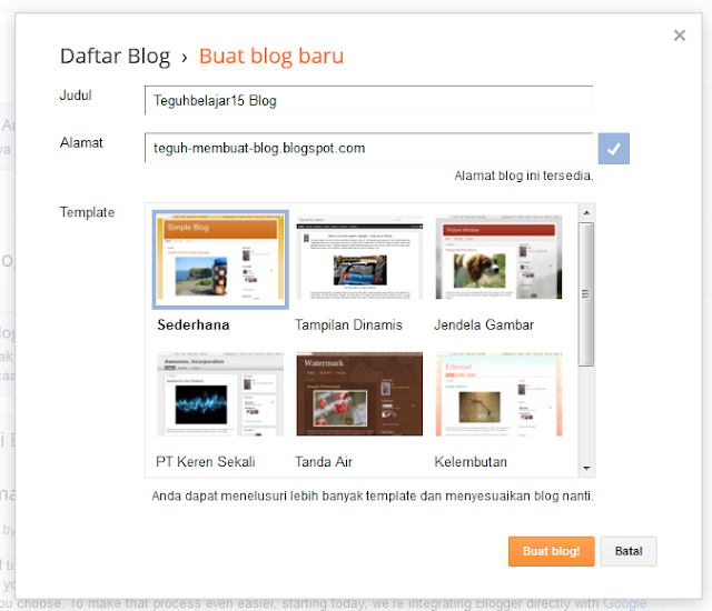 Cara membuat blog di blogspot -pop up