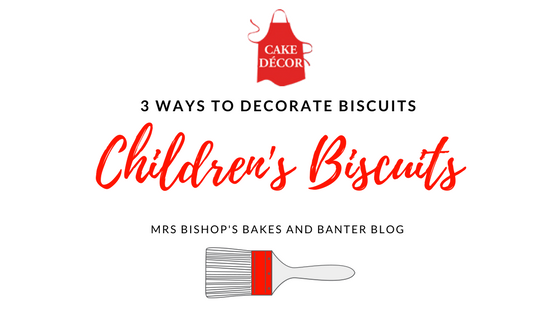 Simple biscuit decorating for Children using Cake Decor goodies