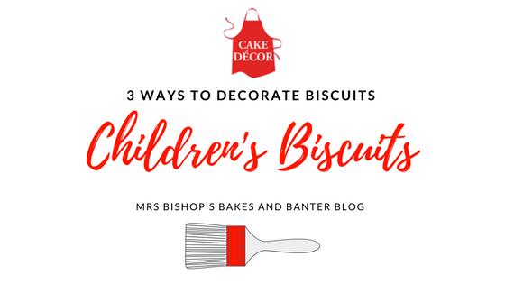 Simple biscuit decorating for Children using Cake Decor goodies
