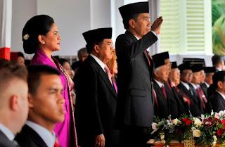 Presiden Jokowi pimpin HUT ke-71 Polri
