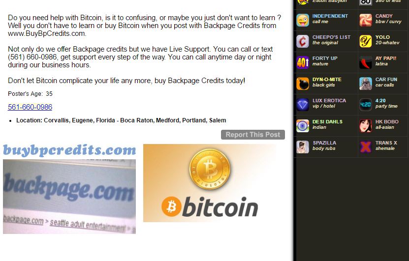 How To Post On Backpage With Bitcoin Investment Banks And