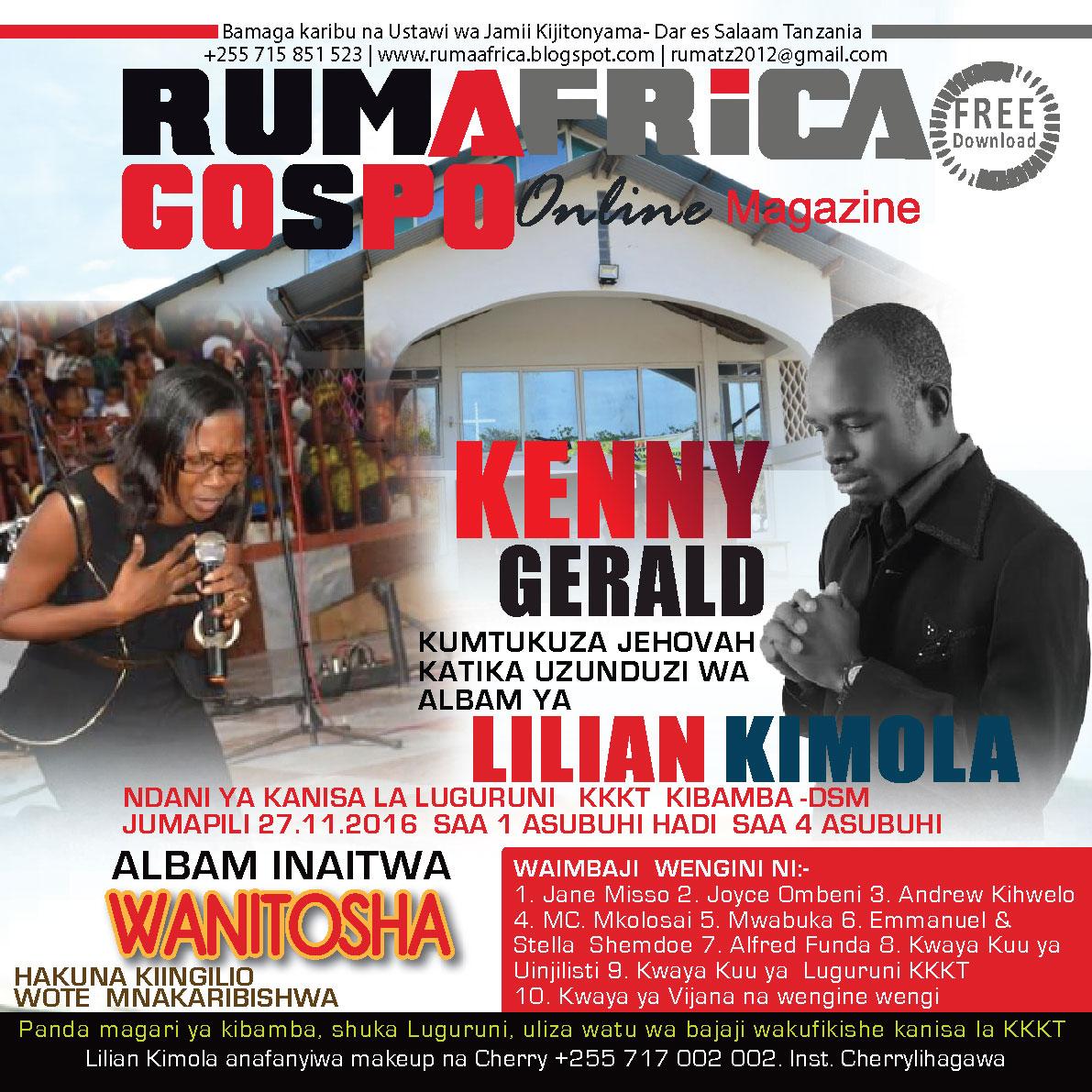 Lilian kimola kuzindua alba yake leo jumapili Internet magasin