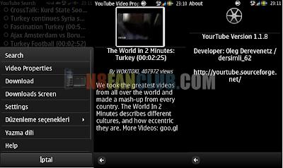 Oleg YouTube Downloader 1 1 11 for Nokia N8 & Belle