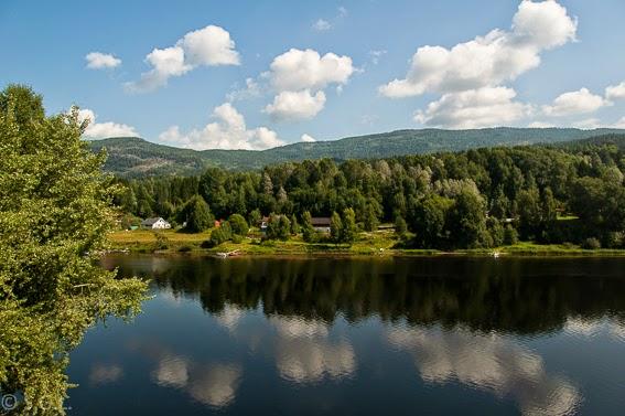 Paisaje del tren de Oslo a Bergen