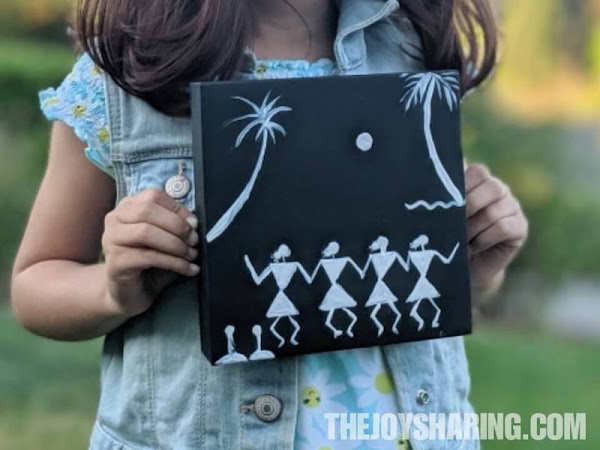Teaching warli drawing to kids