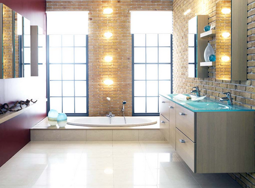 Desain Interior Kamar Mandi Ukuran Kecil Pakai Bathup