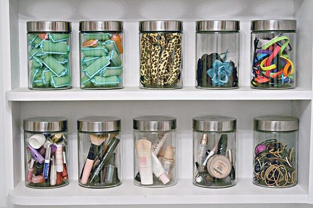 Botes de Cristal para guardar productos de belleza