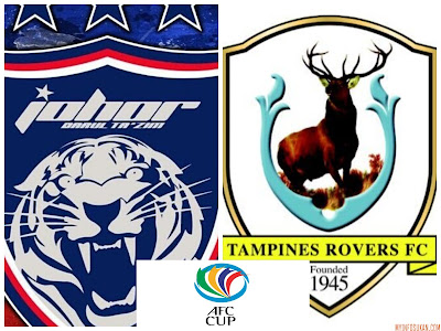 Live Streaming JDT FC vs Tampines Rovers FC Piala AFC 14 Mac 2018