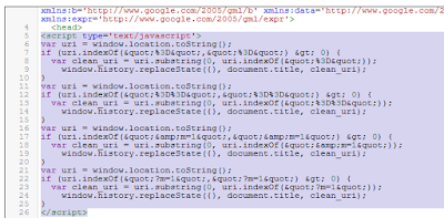 Posisi pemasangan kode