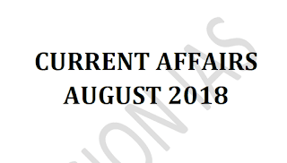 Vision IAS Current Affairs August 2018 - Download PDF