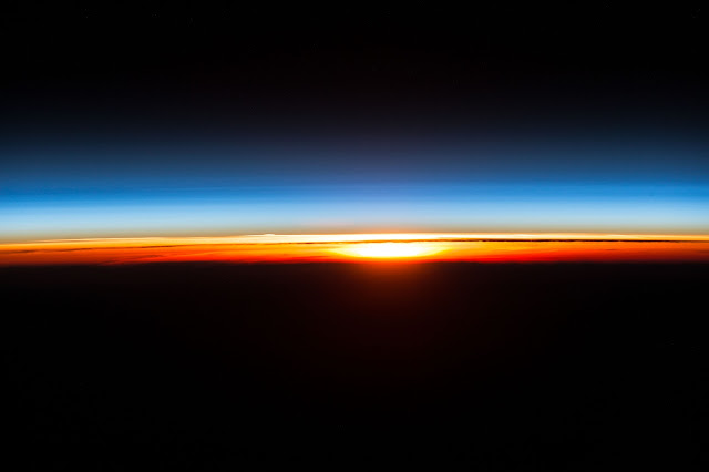 Sunrise seen from the International Space Station