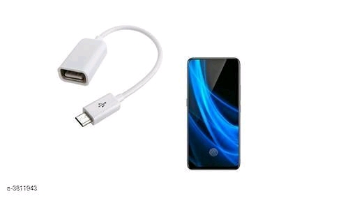 High Speed Micro USB OTG Data Cable Adapter Attach Pendrive, Keyboard for Mobile Phone, Tablet - White