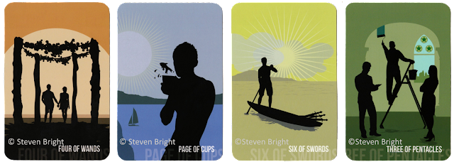 Spirit Within Tarot review Four of Wands Page of Cups Six of Sword Three of Pentacles Steven Bright blog blogger