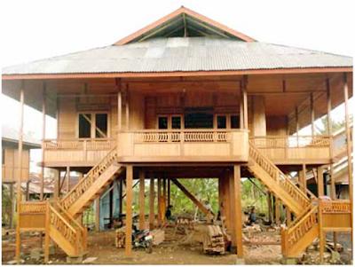 Sketsa Desain Rumah Adat Sulawesi Utara