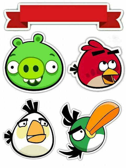 Angry Birds Free Printable Cake Toppers.