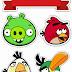 Angry Birds: Toppers para Tartas, Tortas, Pasteles, Bizcochos o Cakes para Imprimir Gratis.