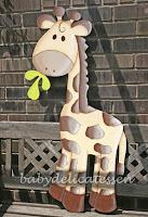 silueta de madera infantil jirafa babydelicatessen