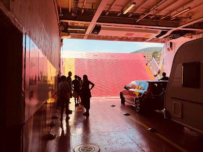 Disembarking at Rio Marina Elba.