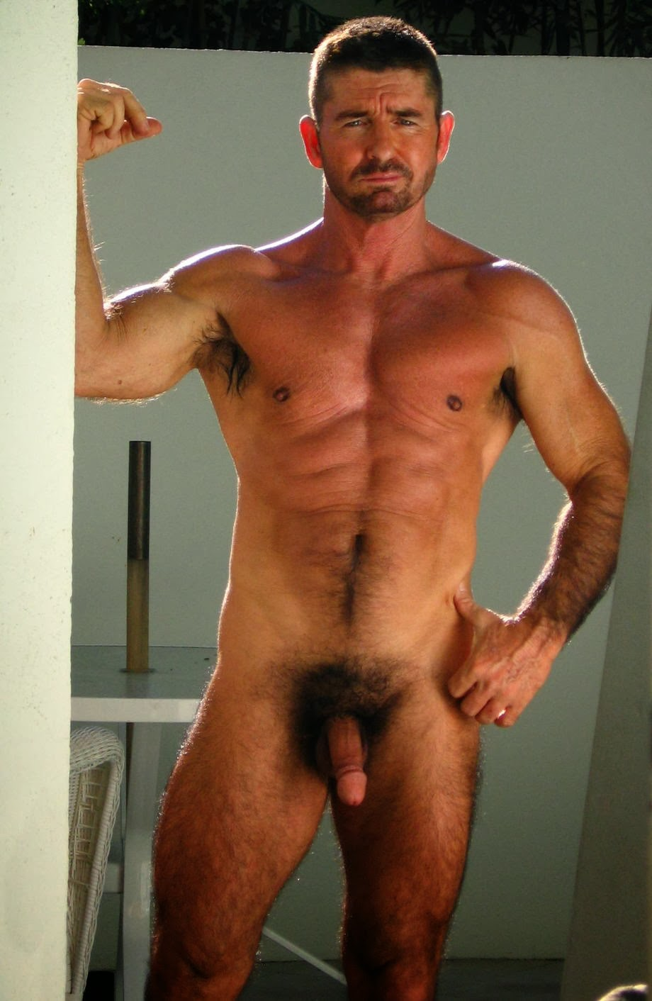 Naked sportsmen