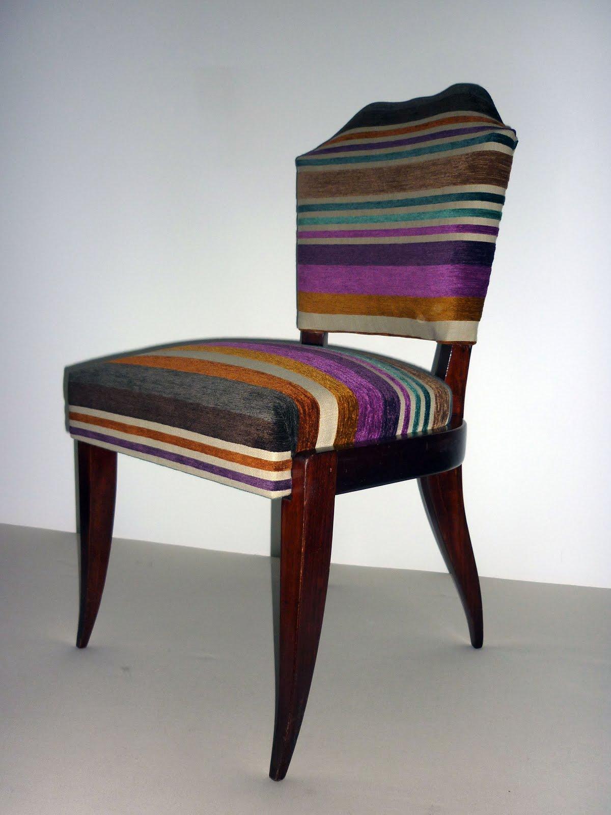 chaise de coiffeuse art d co. Black Bedroom Furniture Sets. Home Design Ideas