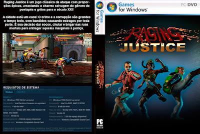 Jogo Raging Justice PC DVD Capa