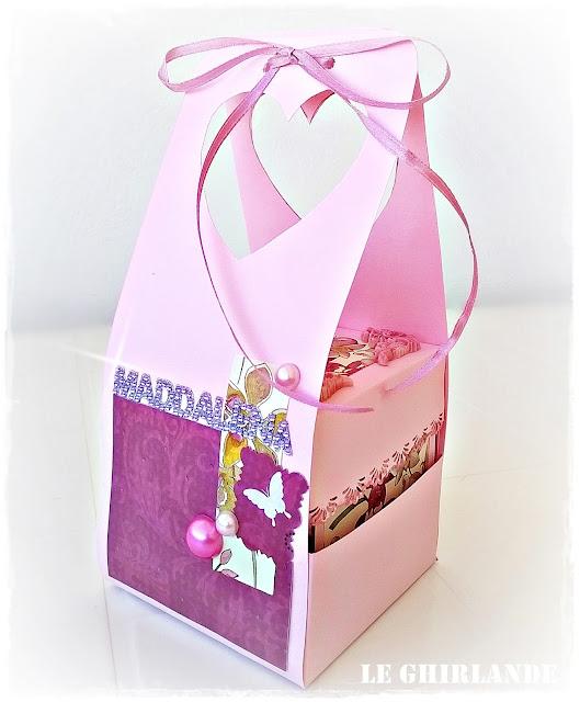 Sacchetto regalo per Explosion box ROSA