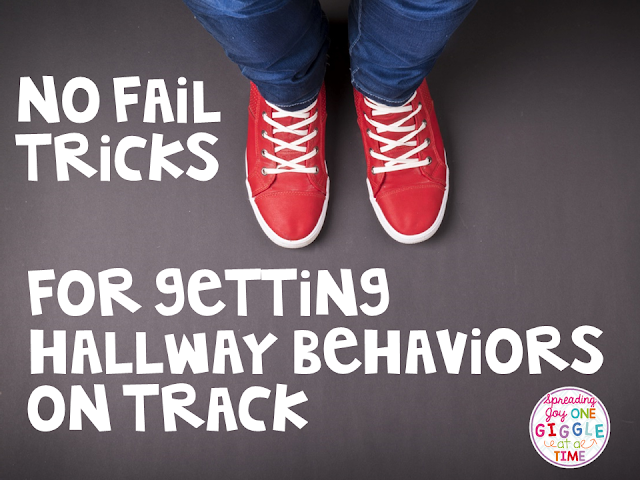 Tips, tricks, and ideas for getting hallway behaviors on track.
