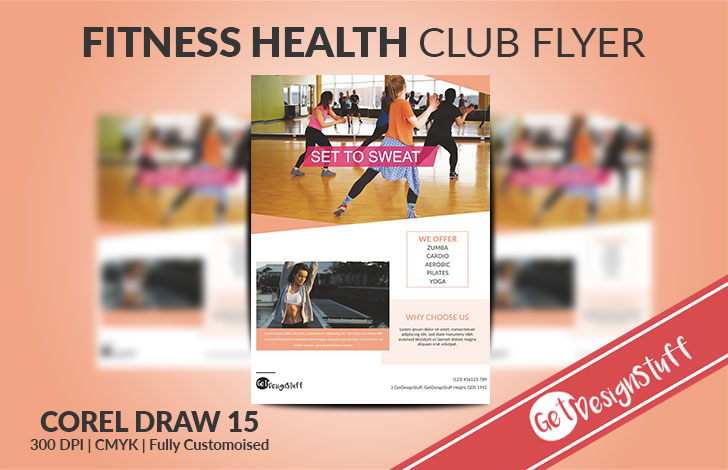 Download Fitness Club Set to Sweat A4 Flyer