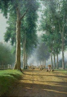 Lukisan ke pasar pagi, 1938. Oleh G. van Achterberg 1872-1953 (geheugen van nederland)