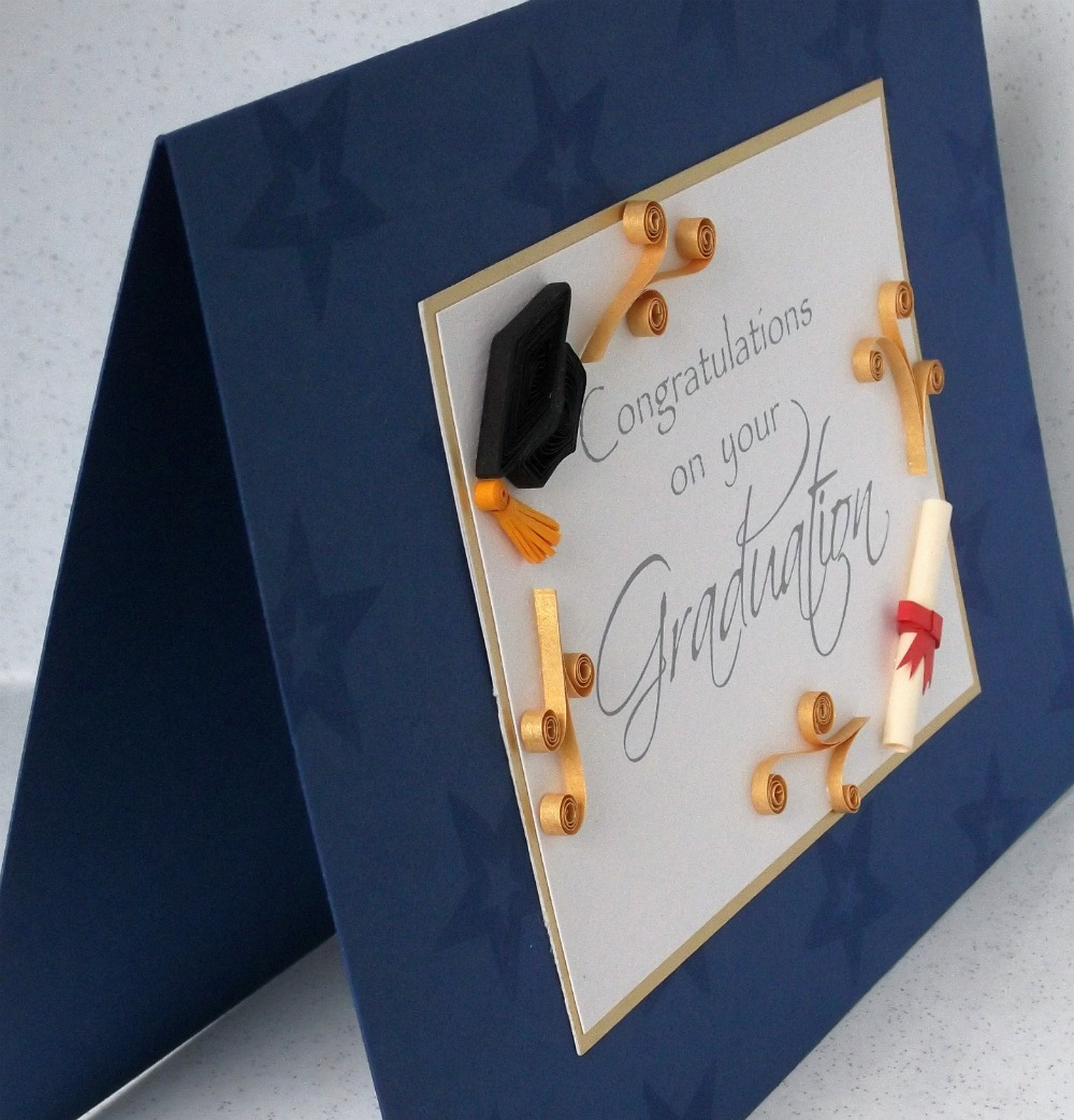 Paper Daisy Cards: Quilled graduation card