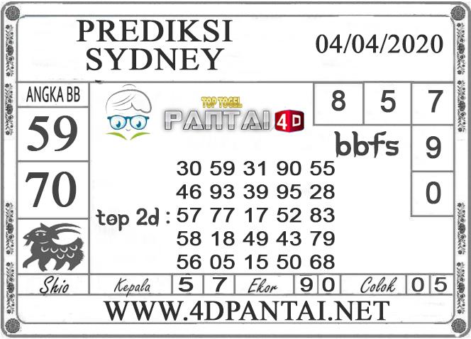 PREDIKSI TOGEL SYDNEY PANTAI4D 04 APRIL 2020