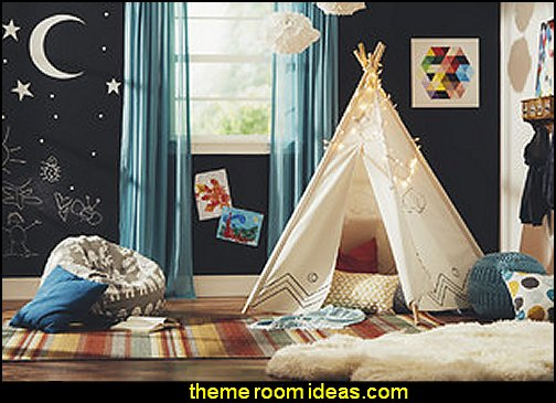 Kids play rooms - fun decorating ideas - fun spaces for children to play