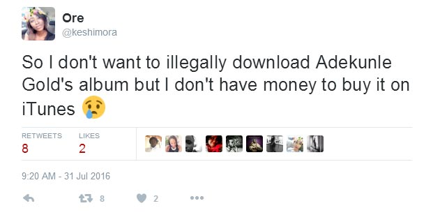 Adekunle Gold gives broke female fan 10k to buy his new album