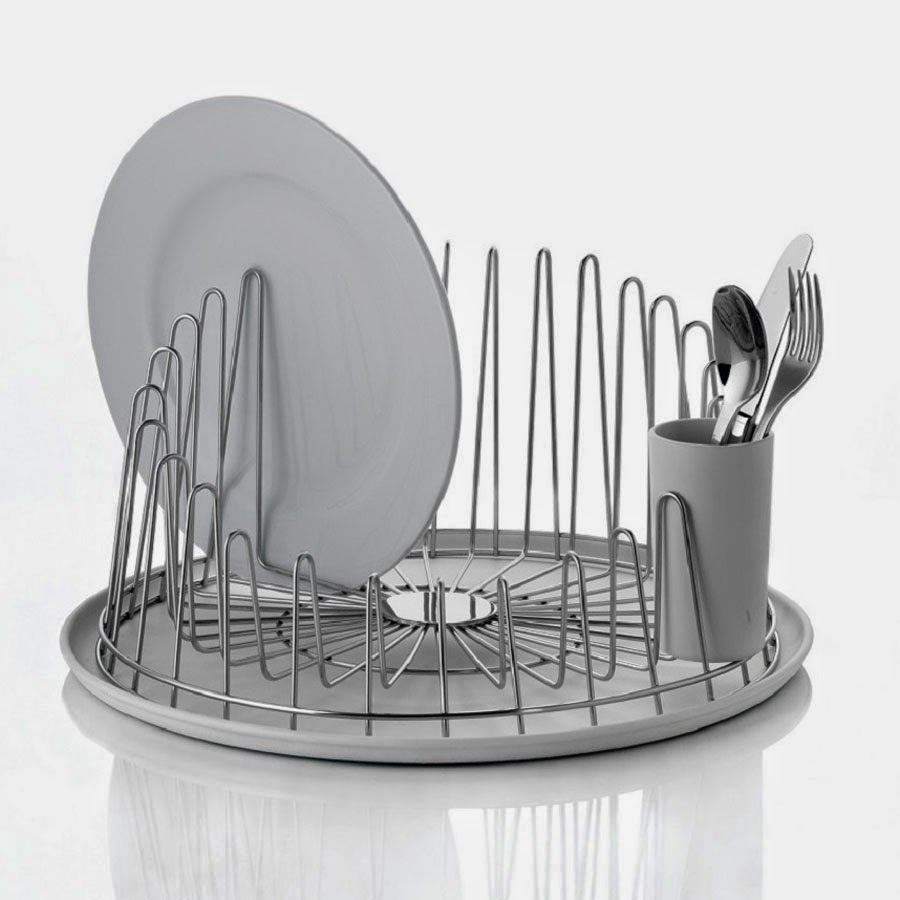 Modern Tempo Dish Drainer Rack by Alessi