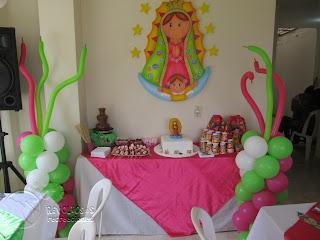 DECORACION VIRGEN DE GUADALUPE FIESTAS INFANTILES
