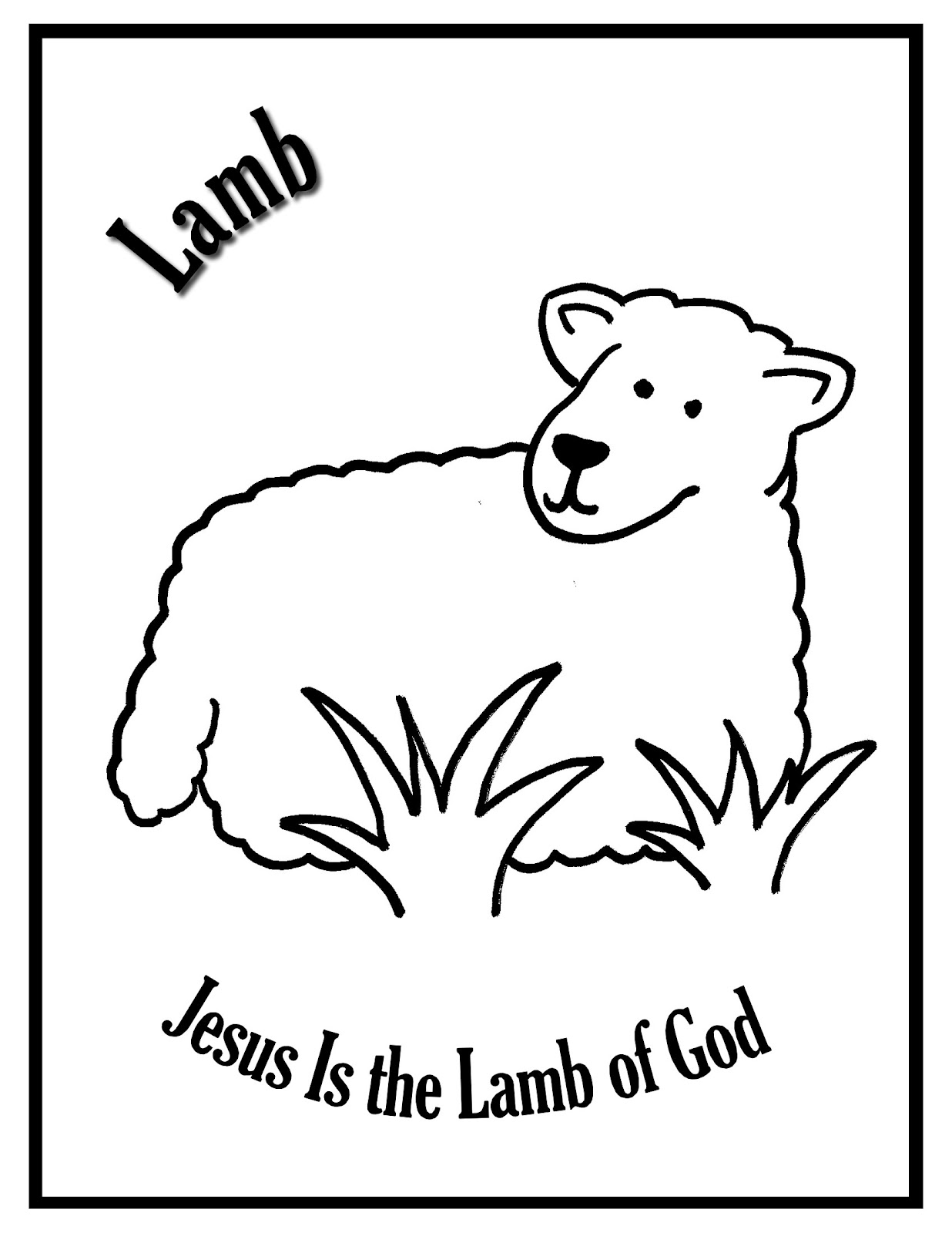 Focus on jesus lamb jesus is the lamb of god for Lamb coloring pages