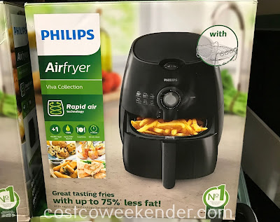 Eat healthier without compromising taste and texture with the Philips Air Fryer (HD9226)