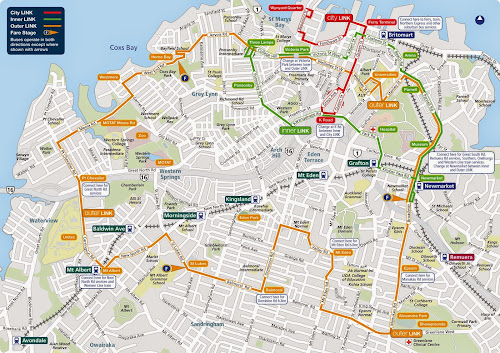 Auckland link route map