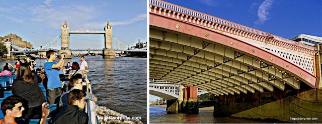 Passeio de barco pelo Tâmisa, Londres